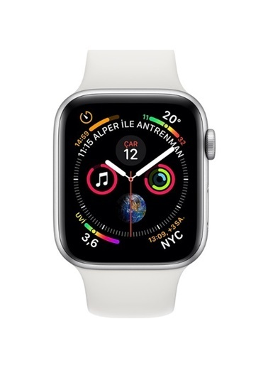 Apple Watch S4 GPS, 40mm Silver Aluminium with White MU642TU/A Beyaz